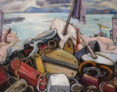 Arthur Lismer - Maritime Still Life Caper Breton Island Nova Scotia 16 x 20 Oil on canvas board Tom Thomson, Group Of Seven, Cape Breton, Canadian Art, Fine Art Auctions, Canvas Board, Nova Scotia, Still Life, Oil On Canvas
