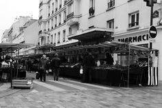Its market day outside the Marché Beauvau, one of Paris's oldest covered markets