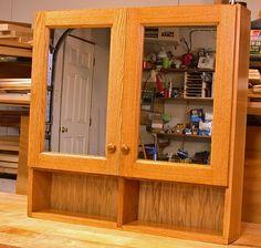 Oak Medicine Cabinets Cabinet Woodworking Talk Woodworkers Forum