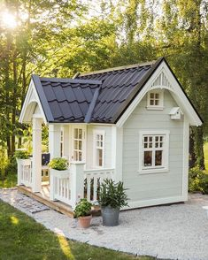 Playhouse Plan Into Your Existing Backyard Space - Home to Z Playhouse ideas Shocking Playhouse Plan Backyard Playhouse, Build A Playhouse, Backyard Sheds, Small Backyard Landscaping, Kids Playhouse Plans, Modern Playhouse, Girls Playhouse, Kids Outside Playhouse, Childs Playhouse