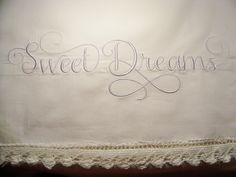 With Glittering Eyes: Embroidered Pillowcases - Using a Jumbo Hoop and Splitting a Design!