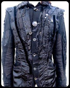 Henry jacket add a scalloped gauze cape