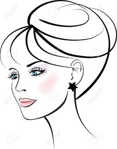 woman face vector - Google Search