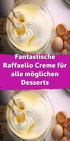 Fantastische Raffaello Creme für alle möglichen Desserts – desserts for kids Blueberry Scones, Vegan Blueberry, Italian Soup, Italian Recipes, Cooking On The Grill, Cooking Time, Butter Croissant, Types Of Sandwiches, Pasta Types