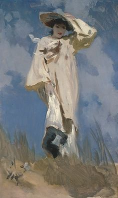 John Singer Sargent (American, 1856-1925) A Gust of Wind