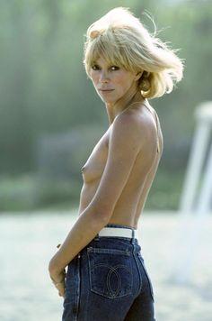 Mireille Darc. 1982. Photo by Benjamin Auger.