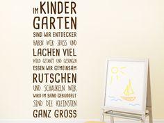 Kreatives Wanddesign für die Wände im #Kindergarten: Wandtattoo Im Kindergarten von WANDTATTOO.DE