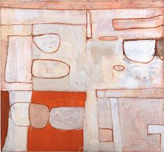 William Scott, Nile Valley Red and White, Oil on canvas, 160 × cm / 63 × 68 in, Private collection Best Abstract Paintings, Abstract Landscape Painting, Abstract Art, Abstract Designs, Frank Auerbach, Oil Painting Tips, Painting & Drawing, Encaustic Art, Thing 1