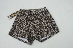 High Waisted Brown Denim Leopard Print Hot Pants Shorts with Pockets Size UK 6 Shorts With Pockets, Hot Pants, Beachwear, Casual Shorts, Short Dresses, Denim, Brown, How To Wear, Fashion