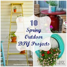 Fun Home Things: Round-Up Monday--10 Spring Outdoor DIY Projects