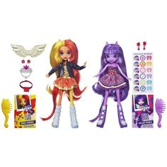 Sunset Shimmer and Twilight Sparkle. She got these after becoming obcessed with the new Equestria Girls movie! So cute!