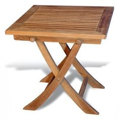 New Outdoor Regal Teak Square Occasional End Table R