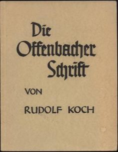 Die Offenbacher Schrift Typografi, Calligraphy Letters, Lettering, Bookbinding, Handwriting, Book Design, Cover Art, Uni, Masters
