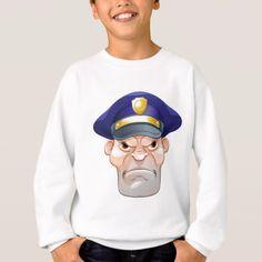 Mean Angry Cartoon Policeman Sweatshirt