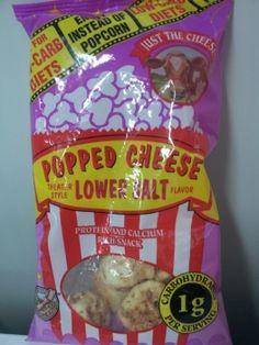 Perfekt für eine abwechslungsreichere LOW CARB - Ernährung: Knusprig gebackener Käse in 'Pop-Corn'-Form, wieder an Lager.