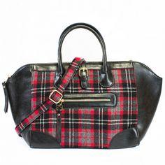 I absolutely LOVE plaid!  Paris Plaid Tote | Discount Handbags & Purses | Handbag Heaven #love