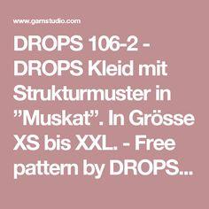 """DROPS 106-2 - DROPS Kleid mit Strukturmuster in """"Muskat"""". In Grösse XS bis XXL.  - Free pattern by DROPS Design"""