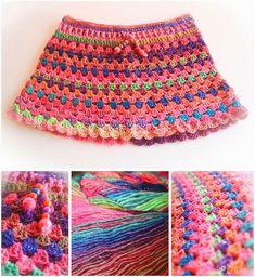 Handmade by Essebes: Gehaakt rokje Granny-stripe met patroon