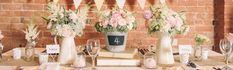 wedding table decorations centrepieces vases vessels