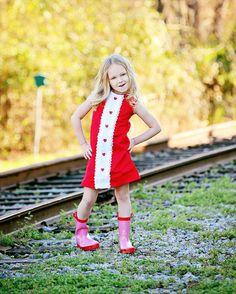 Retro+Ribbin+and+lace+Red+heart+dresschildren+por+faithworks4u,+$44.00