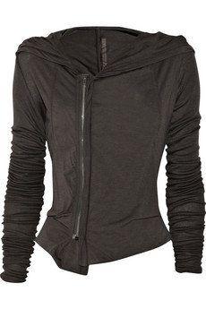 Rick Owens Lilies|Jersey hooded top|NET-A-PORTER.COM