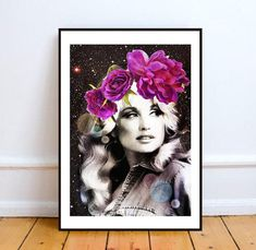 Get galactic with a surreal flower-crowned Dolly portrait. | 36 Gifts For People Who Love Dolly Parton