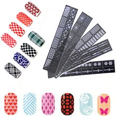 Find More Stickers & Decals Information about 6pcs/Set DIY Reusable Stamping Tool Nail Art Hollow Nail Stickers Stamp Stencil Guide Template,High Quality tool workshop,China stickers hair Suppliers, Cheap tool nail from Foonbe Cosmetic (ShenZhen) Co., Ltd. Store on Aliexpress.com