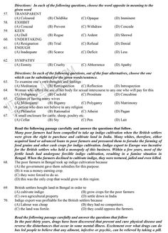 National Talent Search Examination Sample Question Paper