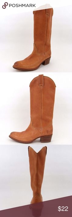 FRYE Deborah Pull On Leather Boot ~ Left Only 7M Womens FRYE Deborah Pull On Natural Pebbled Full Grain Leather Boots ~ 7M Left Only~ his sale is ONLY for one left shoe. Normal wear and scuff from use. Size 7 Medium womens ~ Frye Shoes Heeled Boots