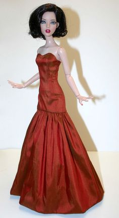 "Starlight Dupioni Silk Gown for 16"" Deja Vu Fashion Dolls Tonner #DesignsbyJude"