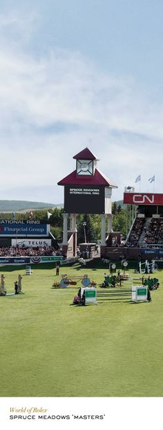 The best riders and horses compete annually for the coveted Grand Prix at the Rolex-sponsored Spruce Meadows 'Masters' in Calgary. #RolexOfficial