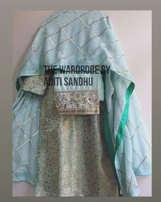 The wardrobe by Aditi Sandhu Embroidery Suits Punjabi, Embroidery Suits Design, Embroidery Designs, Salwar Pattern, Suit Pattern, Frock For Women, Suits For Women, Clothes For Women, Designer Punjabi Suits