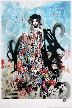 Hush Seductress, Hush. Street Art. Limited edition print. Add an urban edge to your living room.