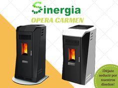 SINERGIA lanza al mercado su nueva gama de estufas de pellets llamada OPERA CARMEN con sus dos versiones: solo aire ó aire y canalizable y una potencia de 9.3kw ideal para superficies de hasta 81 m2 y con unos diseños que te enamoraran. Entra y descubrelas
