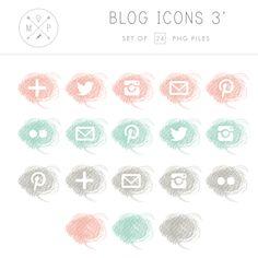 Crayon Blog & Social Media Icons