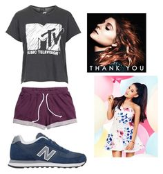 """""""-- tripping, freaking, falling over boys like you --"""" by froyolover002 ❤ liked on Polyvore featuring Topshop, New Balance and Lipsy"""