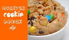 Monster Cookie Dough Dip for pretzels or graham crackers.
