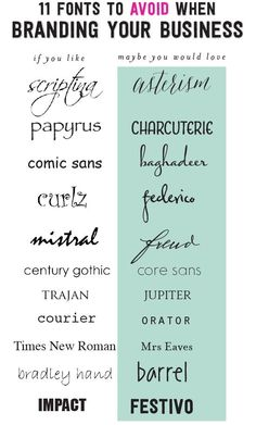 We thought this list of 11 fonts to avoid when branding your business would be helpful. Are any of these your favourite font?