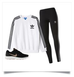 """adidas"" by elzikaa on Polyvore featuring adidas, adidas Originals and NIKE"