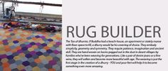 Rug Builder- I want! Dhurrie Rugs, Design Your Own, Lounge, Flooring, Patterns, Lighting, Awesome, Furniture, Airport Lounge