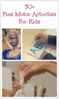 Great ideas for fine motor skills, and the site is a great parenting resource in general.