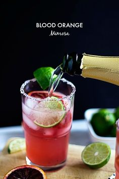 Blood orange and ginger ale mimosa cocktail. The perfect party drink ...