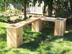 "Cedar Planter W/ 36"" Bench Diy Kit"