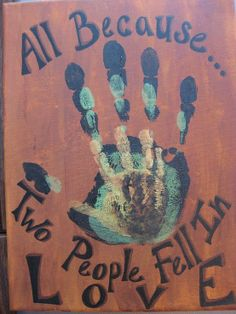 I would love to have this in our home with the hand prints of Ricky, Elizabeth and Julius :)