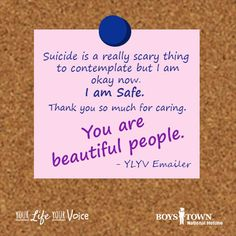 Your Life Your Voice - 24 hour teen crisis hotline - Boys Town National Hotline, help when you need it most. Thank You So Much, Save Life, Your Voice, Cards Against Humanity, Thoughts, Boys, Baby Boys, Senior Boys, Sons