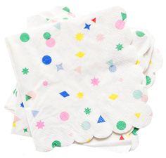 Confetti Napkins at Leif #confetti