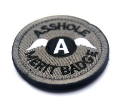 A-hole Asshole Merit patches Tactical Morale military Embroidered patches HOOK and LOOP PATCH ASSHOLE MERIT BADGE PATCHes #Affiliate