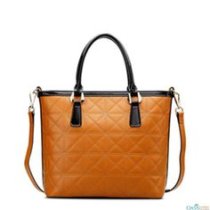 Look smart with Brown Quilted Leather Tote from the house of Oasis Leather.