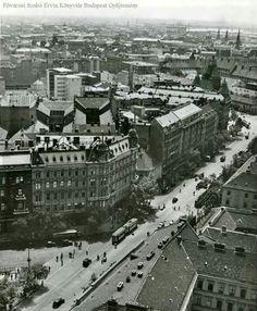 1937. Bajcsy- Zsilinszky út, Andråssy út sarok a Bazilika kupolájából