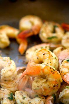 quick lemon and herb shrimp pin